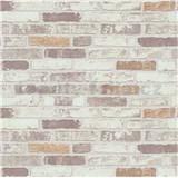 Vliesové tapety na zeď Imitations cihla béžovo-bílá