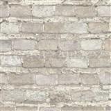 Vliesové tapety na zeď IMPOL Factory 4 cihly béžovo-šedé