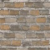 Vliesové tapety na zeď IMPOL Factory 4 cihly hnědé