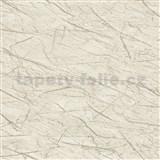 Vliesové tapety na zeď IMPOL Factory 4 mramor krémově bílý s niklovým žíháním