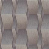 Vliesové tapety na zeď G.M.K. Fashion for walls 3D kostky hnědo-stříbrné