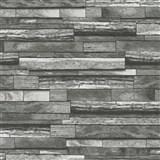 Vliesové tapety na zeď Felicita kameny skládané šedo-černé