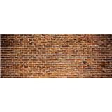 Vliesové fototapety cihlová stěna rozměr 375 cm x 150 cm