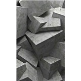Vliesové fototapety betonové kostky rozměr 150 cm x 250 cm
