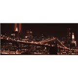 Vliesové fototapety Brooklyn Bridge rozměr 250 cm x 104 cm