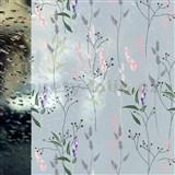 Statická fólie transparentní WILD FLOWERS - 45 cm x 15 m