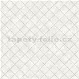 Vliesové tapety na zeď Hexagone čtverce světle šedé s lesklým efektem
