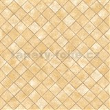 Vliesové tapety na zeď Hexagone čtverce hnědé s lesklým efektem