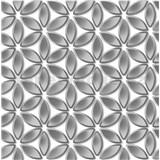 Vliesové tapety na zeď Hexagone květy stříbrné