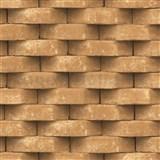 Vliesové tapety na zeď Horizons 3D cihla hnědá