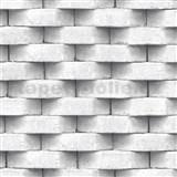 Vliesové tapety na zeď Horizons 3D cihla bílá