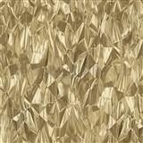 Vliesové tapety na zeď IDEA OF ART 3D skleněné hroty zlaté