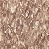 Vliesové tapety na zeď IDEA OF ART 3D skleněné hroty starorůžové