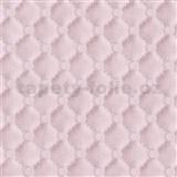 Vliesové tapety na zeď IDEA OF ART imitace koženky s prošíváním a knoflíky růžové