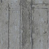 Vliesové tapety na zeď Imagine dřevěnný obklad šedo-hnědý