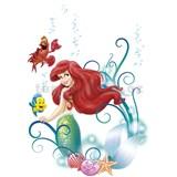 Samolepky na zeď Disney Malá mořská víla Ariel rozměr 50 cm x 70 cm