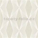 Vliesové tapety na zeď LIVIO geometrický vzor světle hnědý