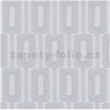 Vliesové tapety na zeď IMPOL Luna2 řetízkový vzor šedý s třpytkami
