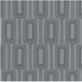 Vliesové tapety na zeď IMPOL Luna2 řetízkový vzor tmavě šedý s třpytkami