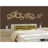Samolepky na zeď Golden Rings 50 cm x 70 cm