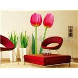 Samolepky na zeď Tulips 65 cm x 165 cm