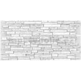 Obkladové 3D PVC panely rozměr 951 x 495 mm, tloušťka 0,4mm, ukládaný pískovec šedý