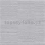 Vliesové tapety na zeď Collection jednobarevná stříbrná s jemným vodorovným proužkem