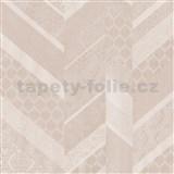 Vliesové tapety na zeď Spotlight drobné kašmírové vzory tvořené do pruhů narůžovělé