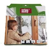 Samolepící těsnění do dveří a oken 6m profil P, těsnění 3-5mm, bílé