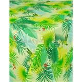 Ubrus metráž tropické listy s textilní strukturou