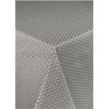Ubrus metráž pletený vzor hnědý s textilní strukturou