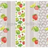 Ubrusy návin 20 m x 140 cm krajka s ovocem a mátou