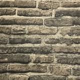 Vliesové tapety na zeď cihlová stěna šedá