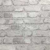 Vliesové tapety na zeď cihly světle šedé - POSLEDNÍ KUSY