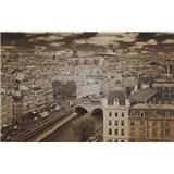 Luxusní vliesové fototapety Paříž - sépie, rozměr 418,5 cm x 270 cm