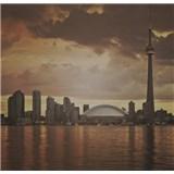Luxusní vliesové fototapety Toronto - sépie, rozměr 279 cm x 270 cm