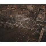 Luxusní vliesové fototapety Las Vegas - sépie, rozměr 325,5 cm x 270 cm