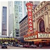 Luxusní vliesové fototapety Chicago - barevné, rozměr 279 cm x 270 cm