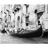 Luxusní vliesové fototapety Venice - černobílé, rozměr 325,5 cm x 270 cm