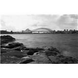 Luxusní vliesové fototapety Sydney - černobílé, rozměr 418,5 cm x 270 cm