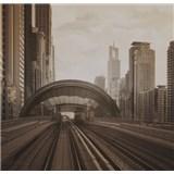 Luxusní vliesové fototapety Dubai - sépie, rozměr 279 cm x 270 cm