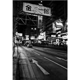 Luxusní vliesové fototapety Tokyo - černobílé, rozměr 186 cm x 270 cm