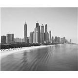 Luxusní vliesové fototapety Dubai - černobílé, rozměr 325,5 cm x 270 cm