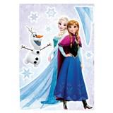 Samolepky na zeď Disney Frozen sestry rozměr 50 cm x 70 cm