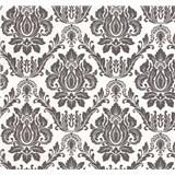 Vliesové tapety na zeď Seasons zámecký vzor černý na bílém podkladu
