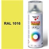 Sprej sírově žlutý lesklý 400ml odstín RAL 1016 barva sírová žlutá lesklá