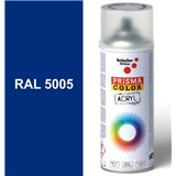 Sprej signální modrý lesklý 400ml odstín RAL 5005 barva signální modrá lesklá