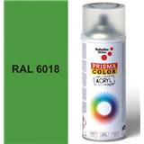 Sprej zelený lesklý 400ml, odstín RAL 6018 barva žluto-zelená lesklá