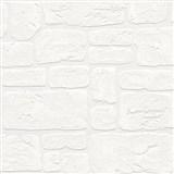 Vinylové tapety na zeď Adelaide kameny bílé