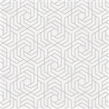 Vliesové tapety IMPOL City Glam geometrický vzor světle šedý se stříbrnými metalickými odlesky
